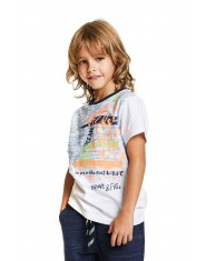 Детска тениска Losan, с принт, за момче